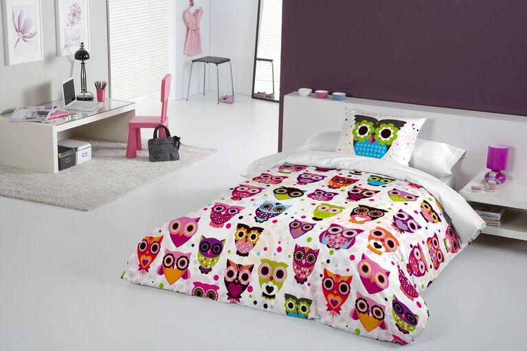Gouchee Design - Owls Digital Print Twin Duvet Cover Set