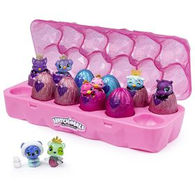 Hatchimals CollEGGtibles, Jewelry Box Royal Dozen 12-Pack Egg Carton with 2 Exclusive Hatchimals - Colours and styles may vary