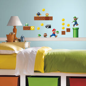 Super Mario Peel & Stick Wall Decals