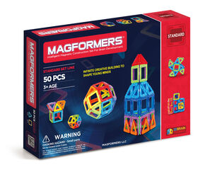 Magformers Basic Rainbow 50 Piece Set