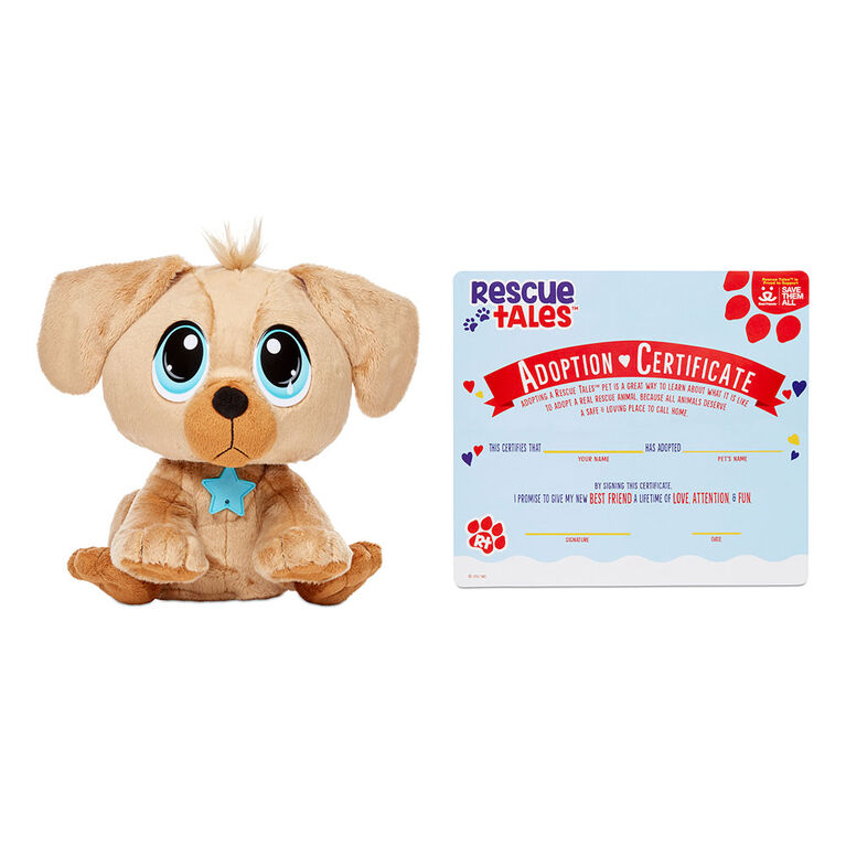Rescue Tales Adoptable Pet Golden Retriever Interactive Plush Pet Toy - English Edition