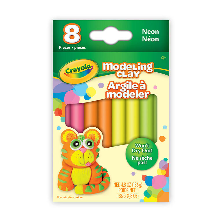 Modeling Clay, 8 count Neon