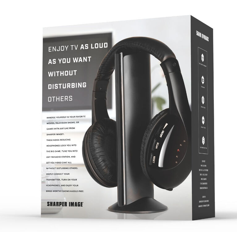 Sharper Image  AIRTUNE Wireless RF TV Headphones