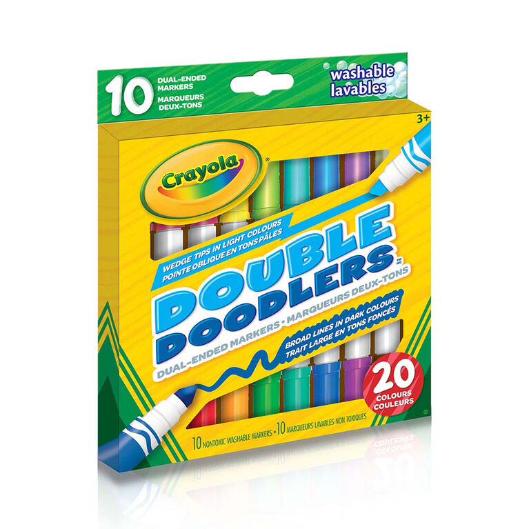 Crayola - 10 marqueurs deux-tons Double Doodlers