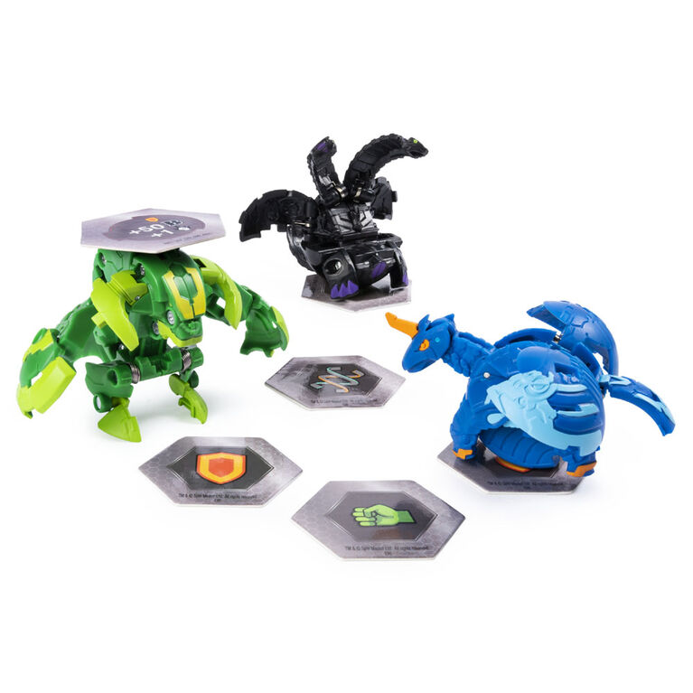 Bakugan Starter Pack 3-Pack, Maxotaur, Collectible Transforming Creatures