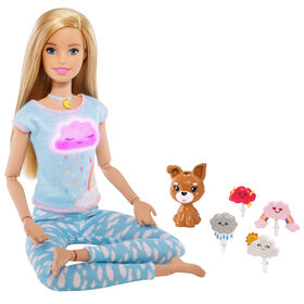 Breathe with Me Barbie Meditation Doll, Blonde, with Lights & Guided Meditation