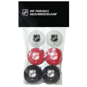 NHL 6 Foam Balls Pack