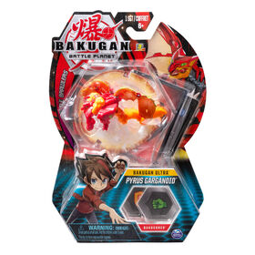 Bakugan Ultra, Pyrus Garganoid, 3-inch Tall Collectible Transforming Creature