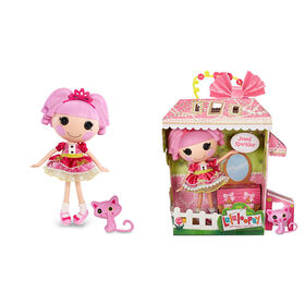 """Lalaloopsy Doll - Jewel Sparkles with Pet Persian Cat, 13"""" princess doll"""