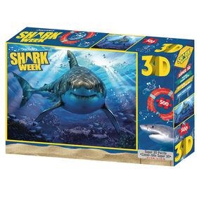 Shark Week - Grand requin blanc - 63 pc Casse-tête Super 3D