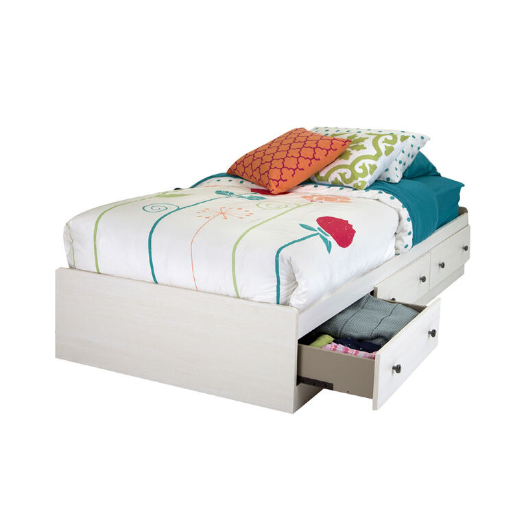 Country Poetry Mate S Platform Storage, White Twin Storage Bed Canada