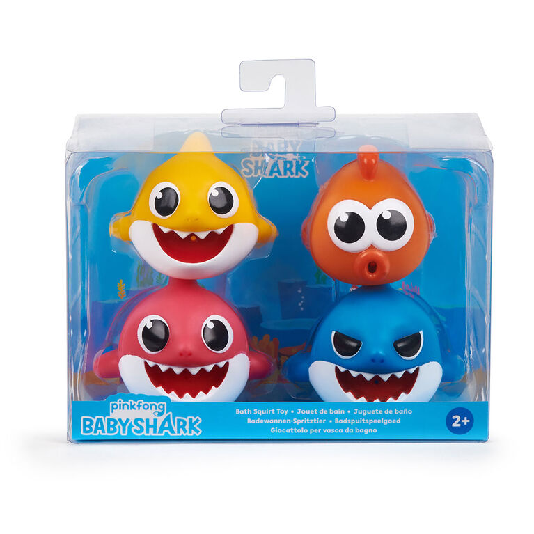 WowWee Pinkfong - Baby Shark Bath Squirt Toy -  4-pack