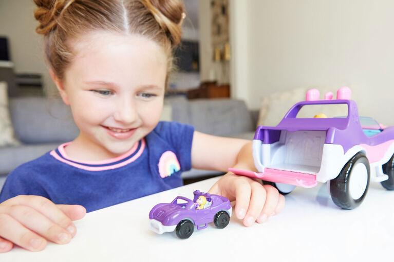 Polly Pocket Doll and SUV Vehicle