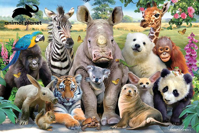 Animal Planet - Class Photo – 150 Piece 3D Puzzle - R Exclusive