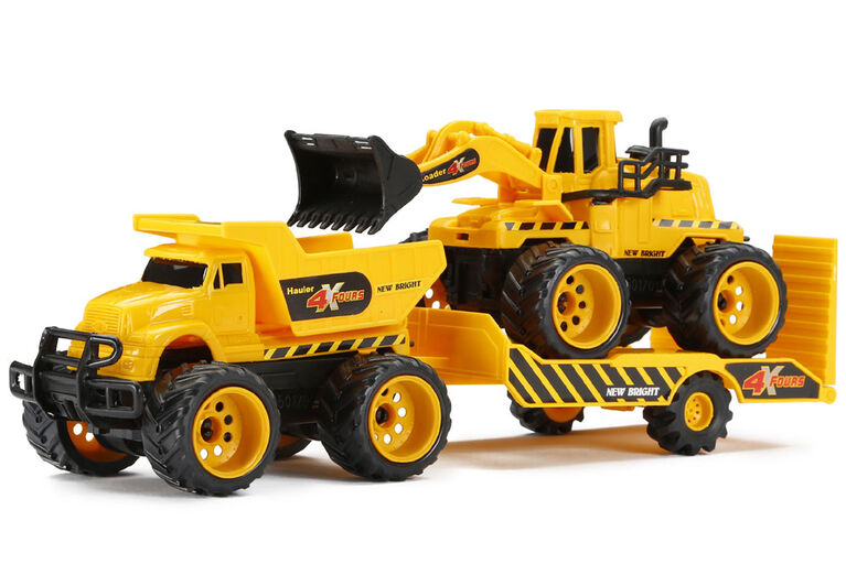 4X4 Construction Vehicles Twin Pack With Trailer - Styles May Vary