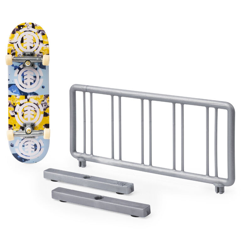 Tech Deck, Street Hits, Element Skateboards Fingerboard with Bike Rack Obstacle