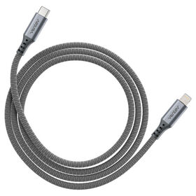 Ventev Alloy USB-C to Lightning Cable 4ft Steel Gray