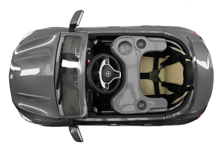Moderno Kids Mercedes CLA45 12V Battery Power Ride-On Car - Gray Metallic