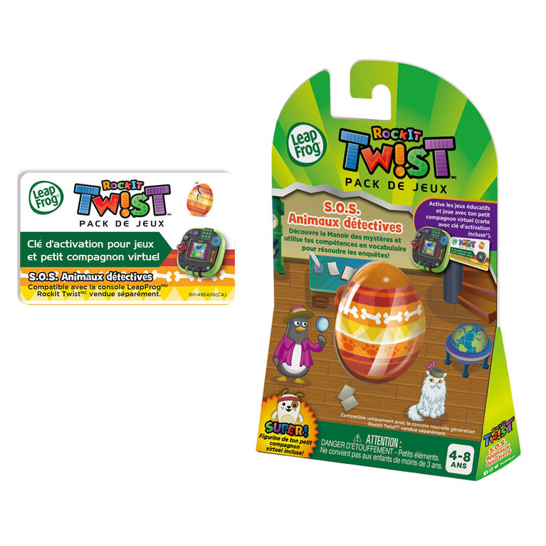 LeapFrog RockIt Twist Game Pack Penelope Penguin: Pet Detective - French Edition