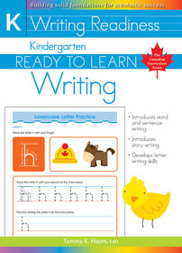 Kindergarten - Ready To Learn Writing - Édition anglaise