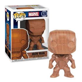 Funko POP! Marvel: Iron Man - Iron Man (Wood) - R Exclusive