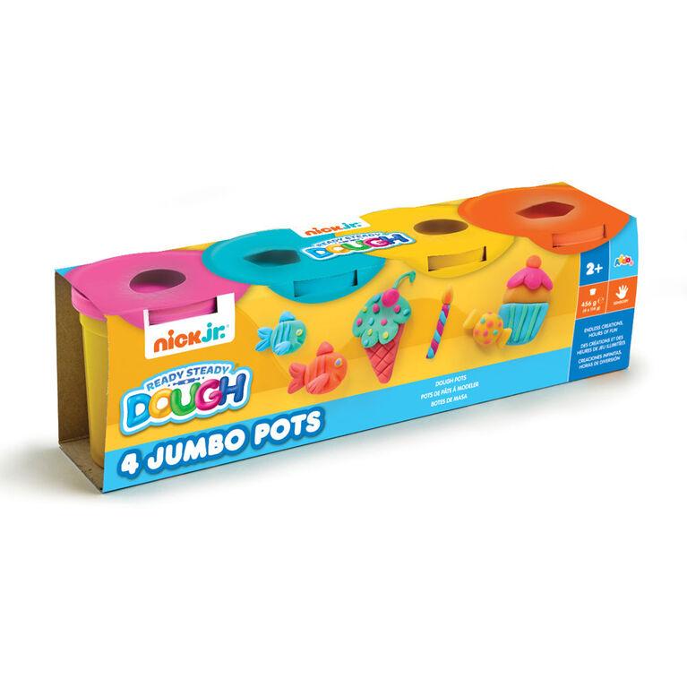 Nick Jr Ready Steady Dough 4 Jumbo Pots Summer Colours - R Exclusive