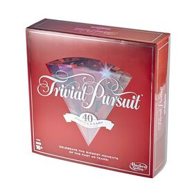 Hasbro Gaming - Trivial Pursuit 40th Anniversary Ruby Edition