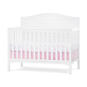 Forever Eclectic by Child Craft Wilmington Arch Top 4-in-1 Convertible Crib, Matte White