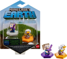 Minecraft Earth Boost Minis Attacking Steve & Spawning Chicken Figures