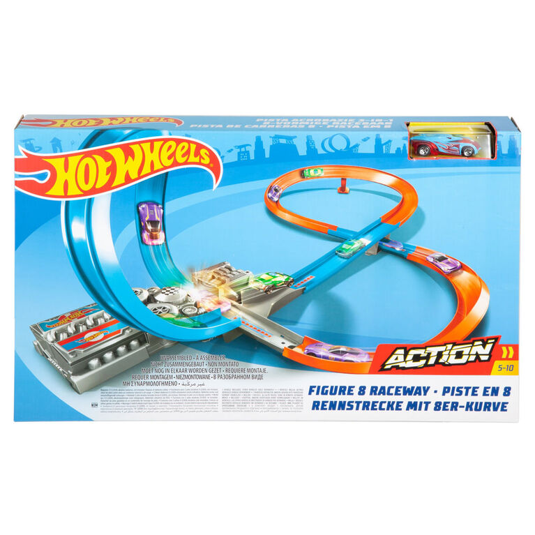 Hot Wheels Figure 8 Raceway With Loop Motorized for Speed