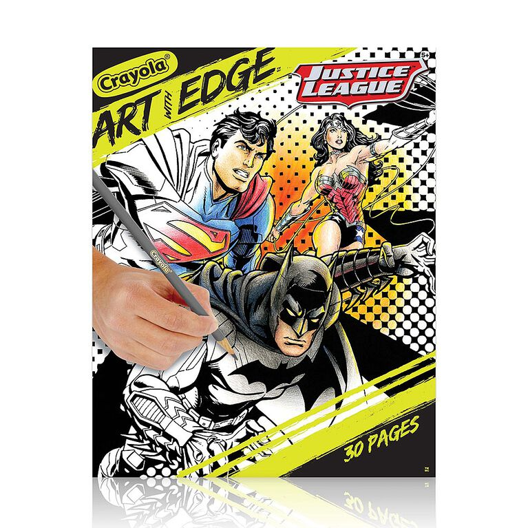 Crayola - Art With Edge Book, Justice League Collection