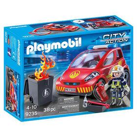 Playmobil - Pompier avec véhicule d'intervention (9235)