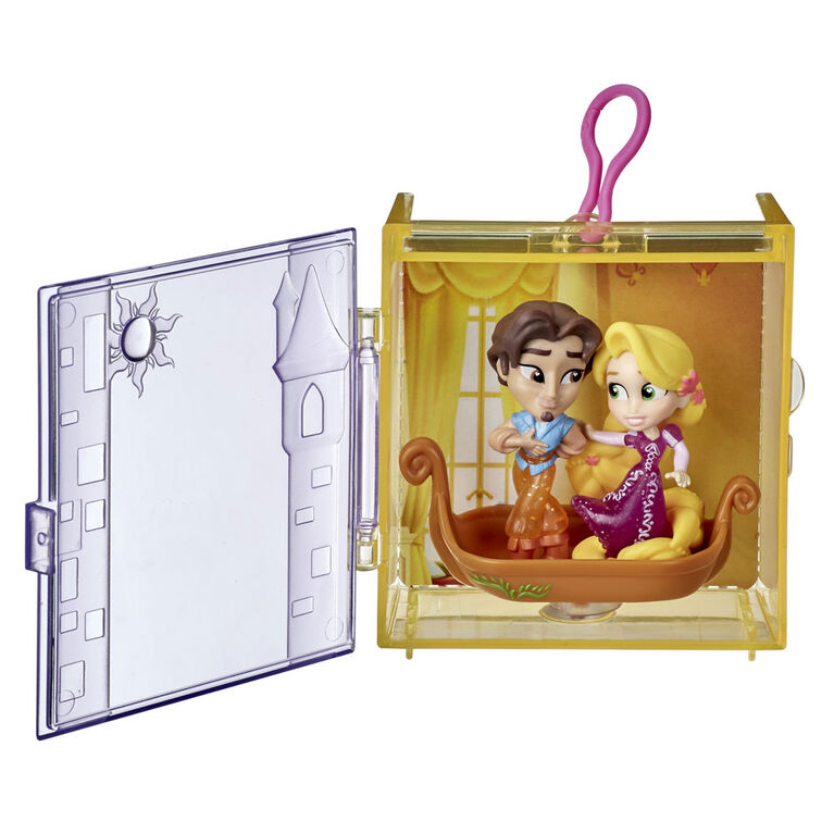 Disney Princess Perfect Pairs Rapunzel, Fun Tangled Unboxing Toy with 2 Dolls, Display Case and Boat Stand