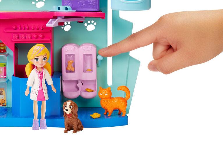 Polly Pocket - Coffret de jeu Vétérinaire Câlins et Soins