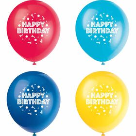"Peppy Birthday 12"" Ballons, 8un - Édition anglaise"