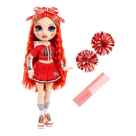 Rainbow High Cheer Ruby Anderson - Red Fashion Doll with Pom Poms