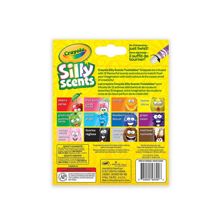 Crayola - Silly Scents Mini Twistables Crayons, 12 ct