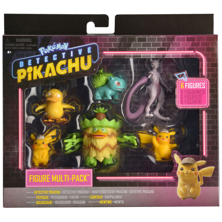 Detective Pikachu Battle Figure Multipack (6-Pack) - R Exclusive