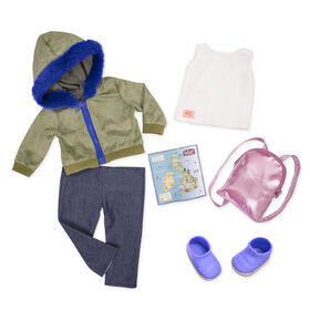 Our Generation, Warm Wayfarer, Travel Outfit for 18-inch Dolls