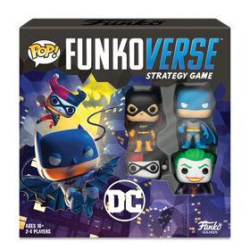 Jeu de stratégie Funkoverse : Pack DC à 4 personnages (2-4 joueurs) - Édition anglaise