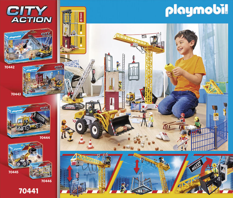 Grande grue de chantier radio-commandée - Playmobil