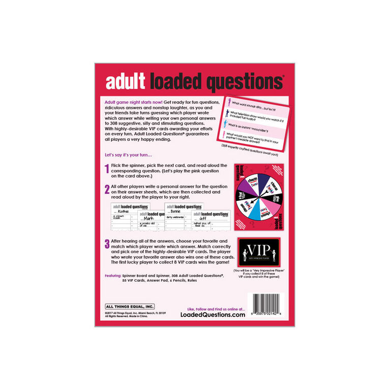 Adult Loaded Questions - Édition anglaise