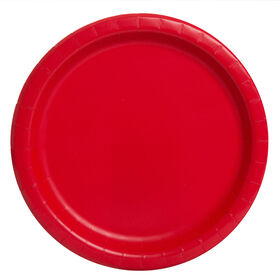 """Ruby Red Solid  7""""  Plates 8 pieces"""
