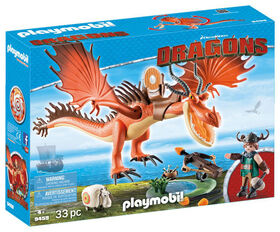 Playmobil - How To Train Your Dragon - Snotlout with Hookfang