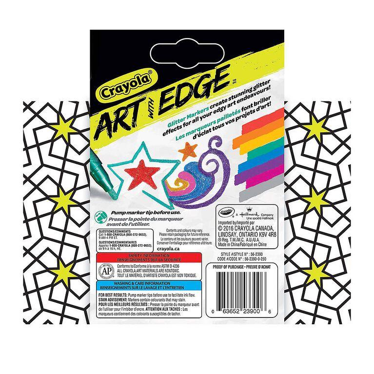 Marqueurs pailletés Crayola Art with Edge.
