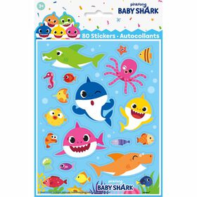 Baby Shark Sticker Sheets, 4 pieces