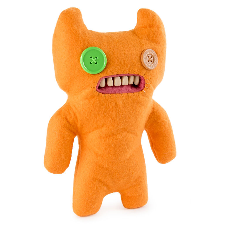 "Fuggler - Funny Ugly Monster, 9"" Indecisive Monster (Orange)  Plush Creature with Teeth"