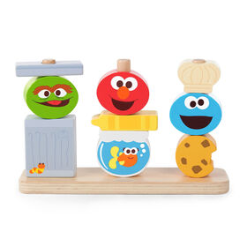 Mix & Match Sesame Street Friends Wooden Stacking Toy