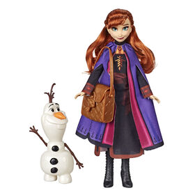 Disney Frozen Anna Doll With Buildable Olaf Figure