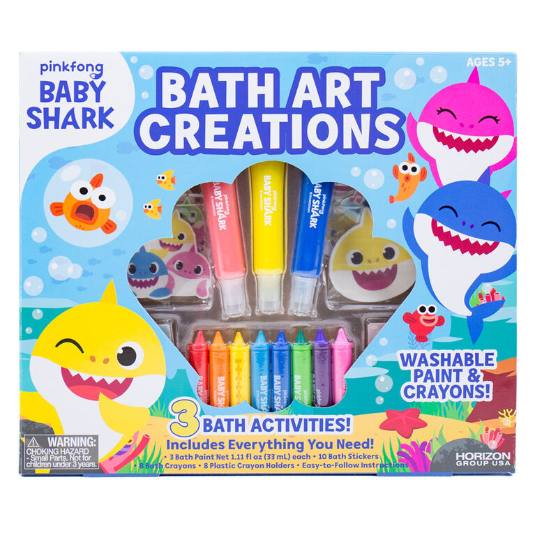 Pinkfong Baby Shark Bath Art Creations - English Edition